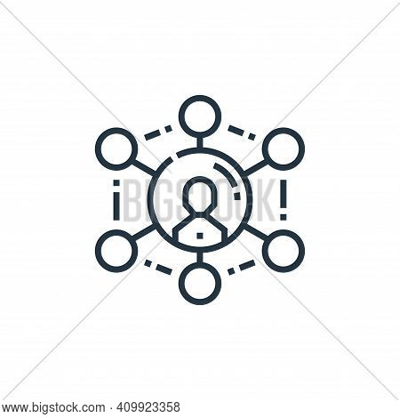 network icon isolated on white background from marketing collection. network icon thin line outline