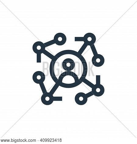 network icon isolated on white background from job resume collection. network icon thin line outline