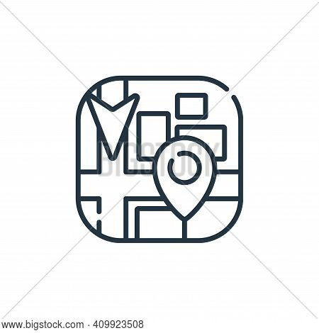 navigation icon isolated on white background from navigation and maps collection. navigation icon th