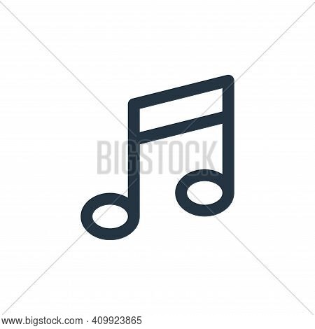 music note icon isolated on white background from user interface collection. music note icon thin li