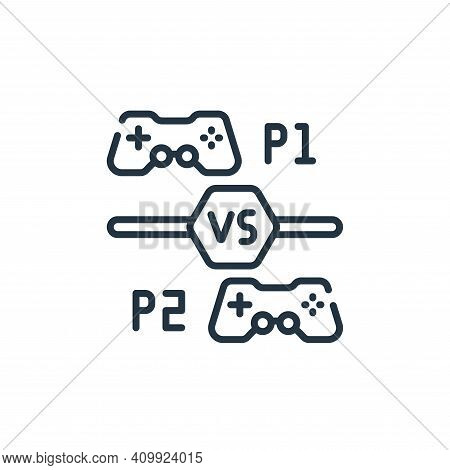 multiplayer icon isolated on white background from videogame collection. multiplayer icon thin line
