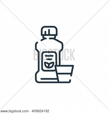 mouthwash icon isolated on white background from dental care collection. mouthwash icon thin line ou