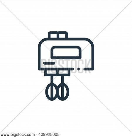 mixer icon isolated on white background from electronic devices collection. mixer icon thin line out