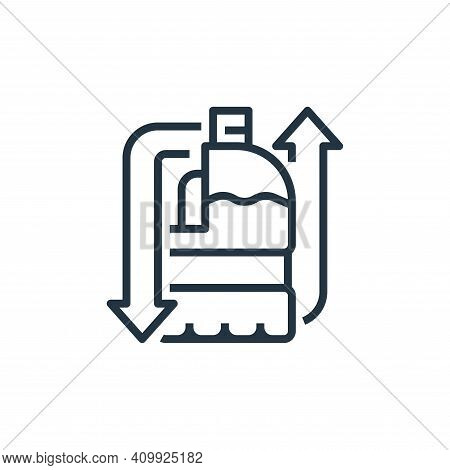 milk bottle icon isolated on white background from recycling collection. milk bottle icon thin line