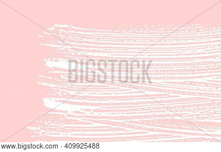 Grunge Texture. Distress Pink Rough Trace. Gorgeous Background. Noise Dirty Grunge Texture. Extra Ar