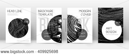 Cover Page Design Template. Trendy Brochure Layout. Charming Trendy Abstract Cover Page. Black Grung
