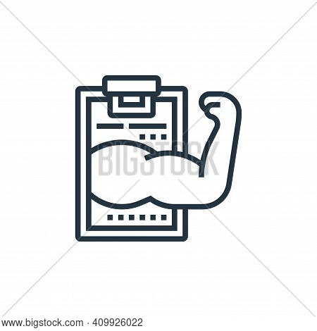 medical report icon isolated on white background from fitness collection. medical report icon thin l