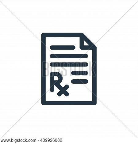 medical prescription icon isolated on white background from medicine collection. medical prescriptio