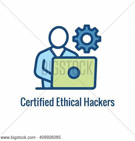 Certified Ethical Hacking Icon Showing Security Or Hacking Idea