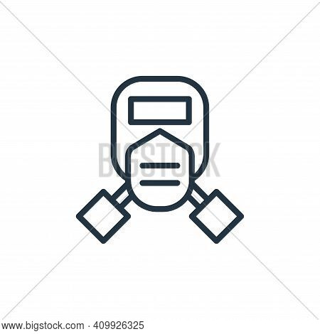 mask icon isolated on white background from engineering collection. mask icon thin line outline line