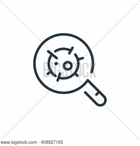 magnifying glass icon isolated on white background from virus transmission collection. magnifying gl