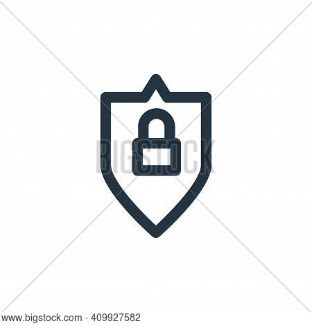 locked icon isolated on white background from computer hardware collection. locked icon thin line ou