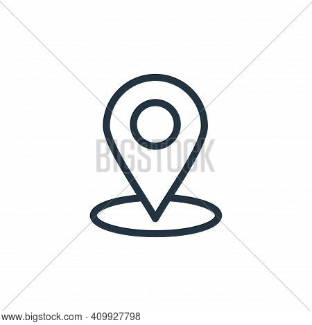 location icon isolated on white background from navigation collection. location icon thin line outli