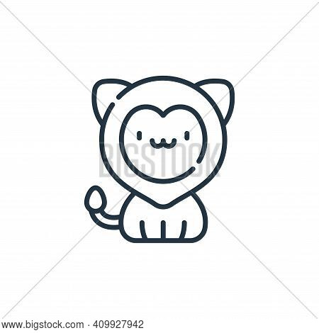 lion icon isolated on white background from circus collection. lion icon thin line outline linear li