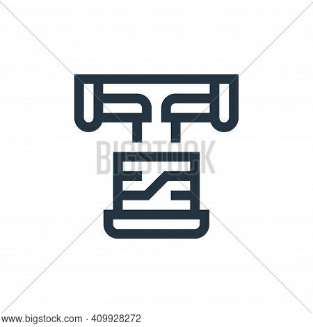 laptop icon isolated on white background from manufacturing collection. laptop icon thin line outlin