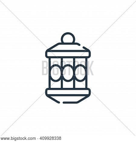 lantern icon isolated on white background from ramadan collection. lantern icon thin line outline li