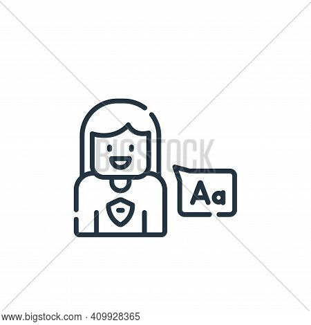 language icon isolated on white background from academy collection. language icon thin line outline