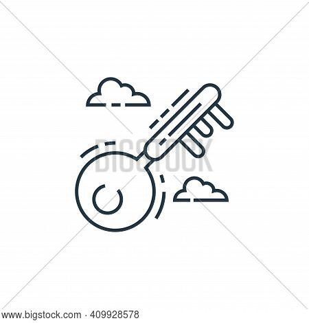 key icon isolated on white background from environment and eco collection. key icon thin line outlin