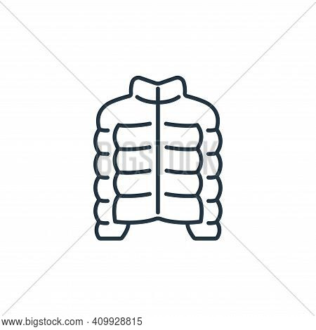 jacket icon isolated on white background from clothes and outfit collection. jacket icon thin line o