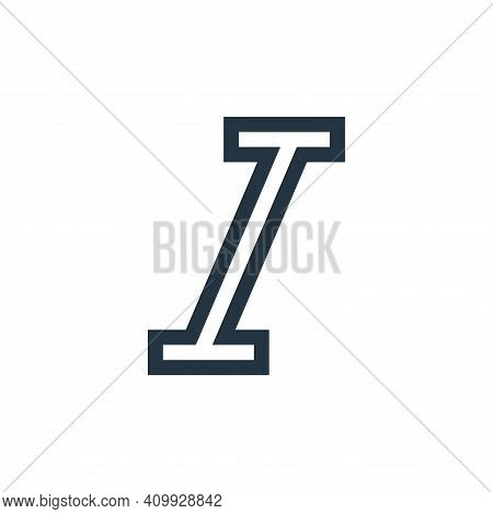 italics icon isolated on white background from text editor collection. italics icon thin line outlin