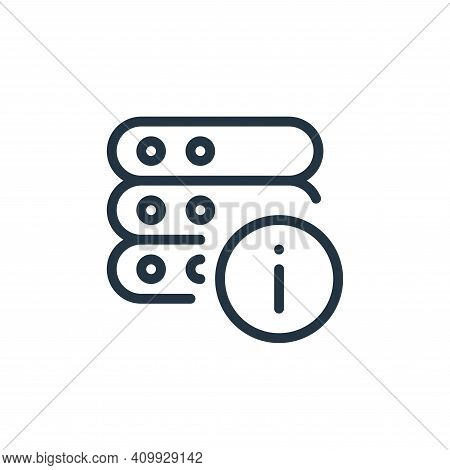 info icon isolated on white background from work office server collection. info icon thin line outli