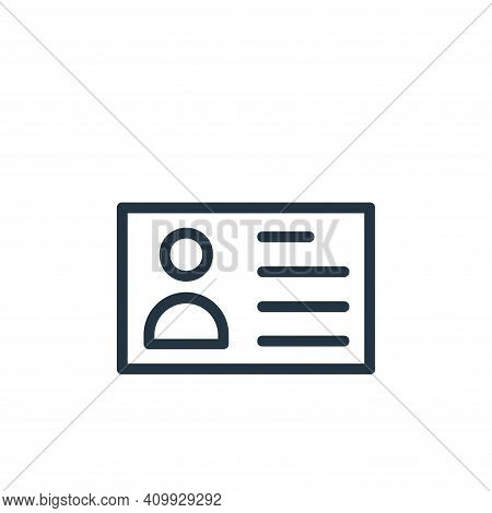 id card icon isolated on white background from banking and finance flat icons collection. id card ic