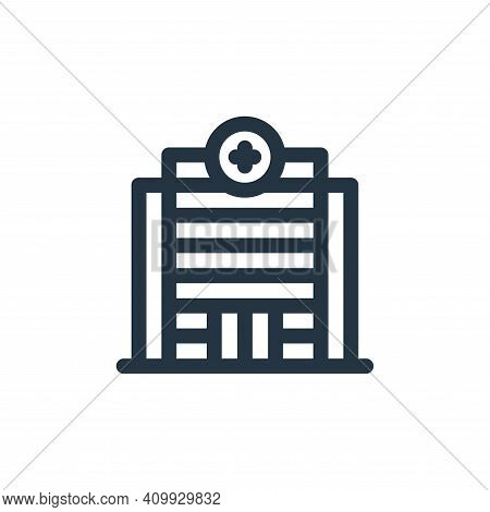 hospital icon isolated on white background from health collection. hospital icon thin line outline l
