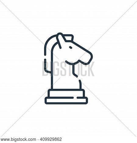 horse icon isolated on white background from free time collection. horse icon thin line outline line