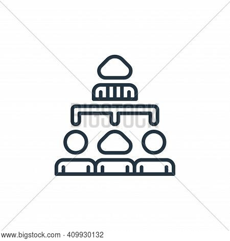 hierarchy icon isolated on white background from management collection. hierarchy icon thin line out