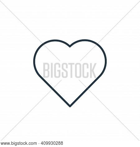 heart icon isolated on white background from casino collection. heart icon thin line outline linear