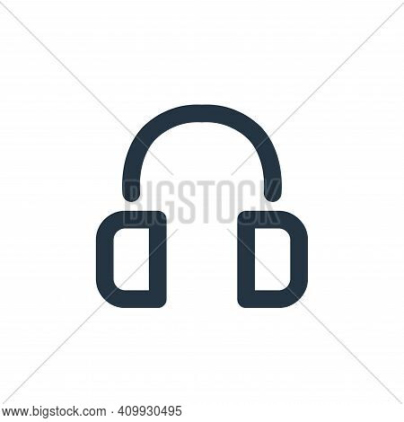 headset icon isolated on white background from electronics collection. headset icon thin line outlin