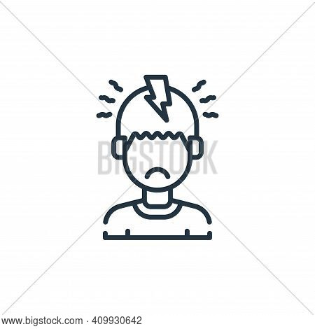 headache icon isolated on white background from allergies collection. headache icon thin line outlin
