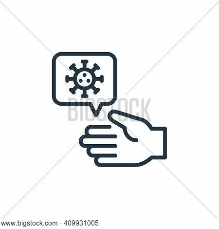 hand icon isolated on white background from coronavirus collection. hand icon thin line outline line