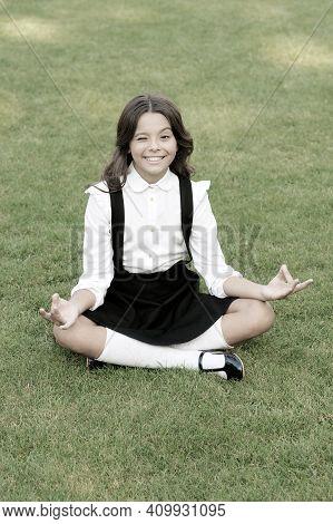 Meditation Practice. Good Vibes. Peaceful Meditation. Learn Meditation Techniques. Girl School Pupil