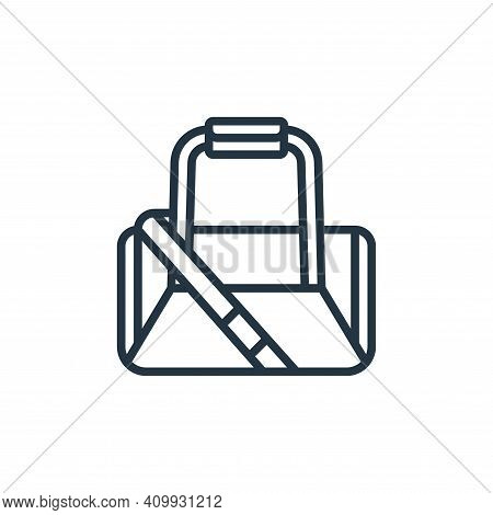 gym bag icon isolated on white background from fitness collection. gym bag icon thin line outline li
