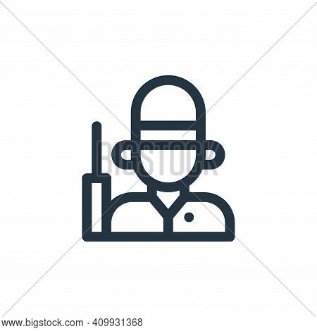 guard icon isolated on white background from england collection. guard icon thin line outline linear