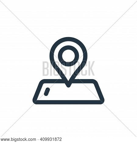 gps icon isolated on white background from virtual reality collection. gps icon thin line outline li