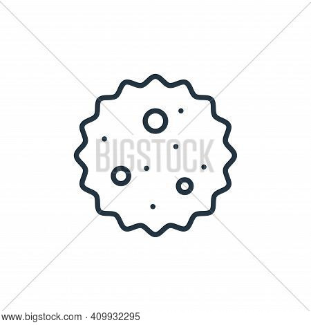 germ icon isolated on white background from stop virus collection. germ icon thin line outline linea