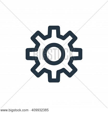 gear icon isolated on white background from marketing business collection. gear icon thin line outli