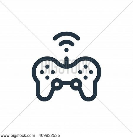 gamepad icon isolated on white background from internet of things collection. gamepad icon thin line