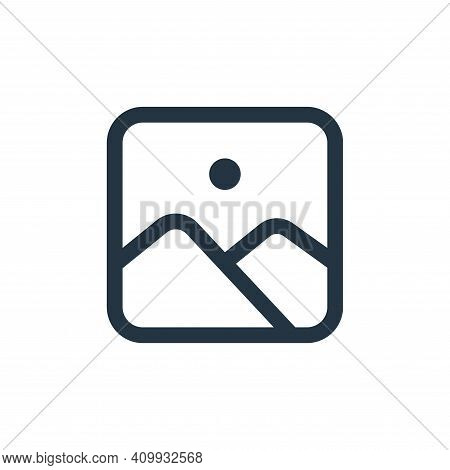 gallery icon isolated on white background from interface collection. gallery icon thin line outline