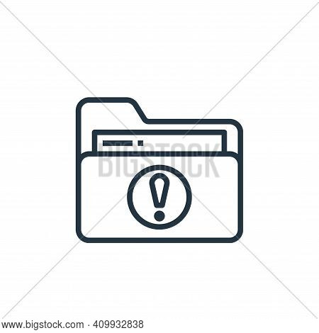 folder icon isolated on white background from stationery collection. folder icon thin line outline l