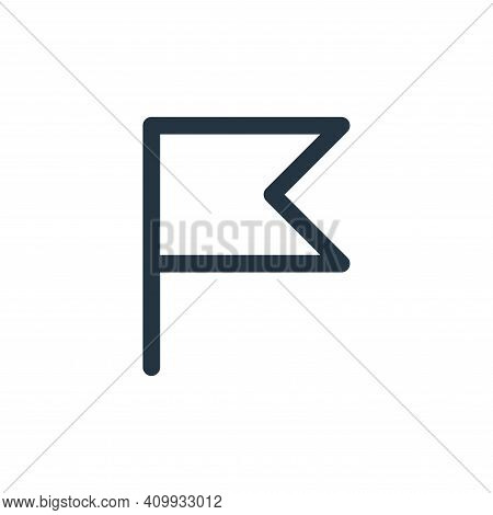 flag icon isolated on white background from user interface collection. flag icon thin line outline l