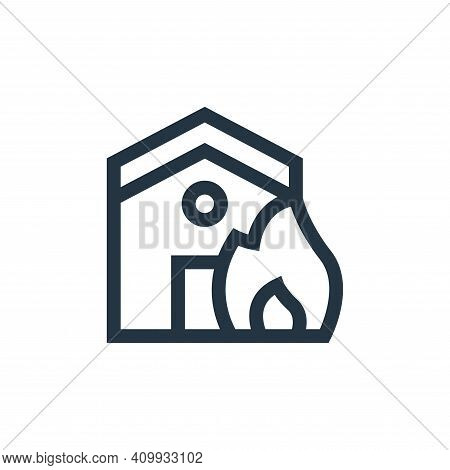 fire icon isolated on white background from insurance collection. fire icon thin line outline linear