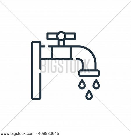 faucet icon isolated on white background from cleaning collection. faucet icon thin line outline lin