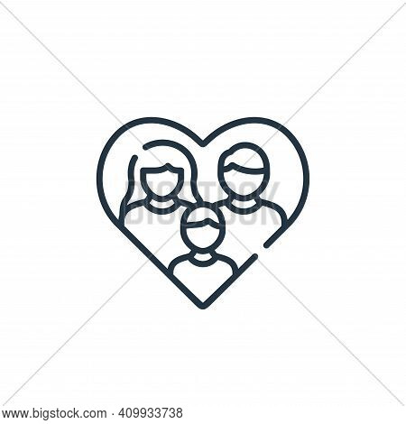 family icon isolated on white background from kindness collection. family icon thin line outline lin