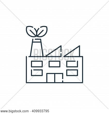 factory icon isolated on white background from mother earth day collection. factory icon thin line o