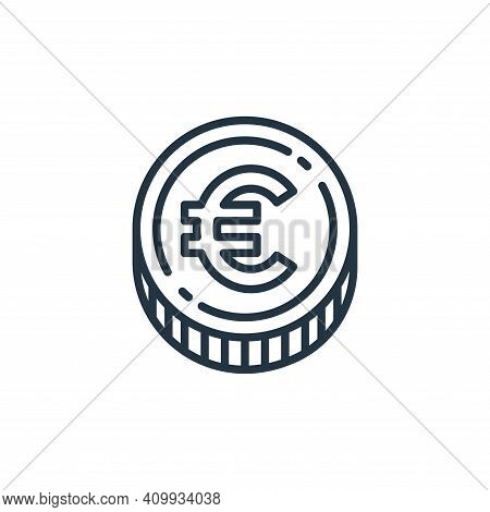 euro coin icon isolated on white background from money and currency collection. euro coin icon thin