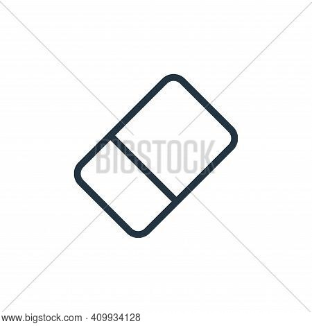 eraser icon isolated on white background from work office supply collection. eraser icon thin line o