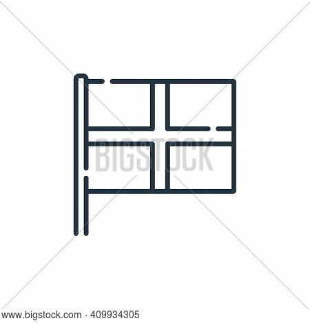 england icon isolated on white background from england collection. england icon thin line outline li